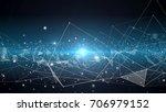 plexus lines  nodes and...   Shutterstock . vector #706979152