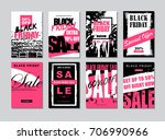 set of templates banners for... | Shutterstock .eps vector #706990966
