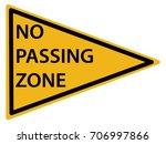 us road warning sign  no... | Shutterstock .eps vector #706997866