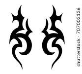tattoo tribal vector design....   Shutterstock .eps vector #707002126