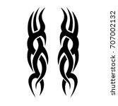 tattoo tribal vector design.... | Shutterstock .eps vector #707002132