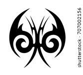 tattoo tribal vector design.... | Shutterstock .eps vector #707002156