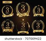 anniversary golden laurel... | Shutterstock .eps vector #707009422