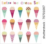 Retro Ice Cream Set