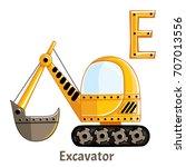 vector alphabet letter e....   Shutterstock .eps vector #707013556