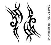tribal tattoo art designs.... | Shutterstock .eps vector #707013982