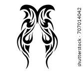 tribal tattoo art designs.... | Shutterstock .eps vector #707014042