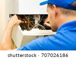 maintenance service engineer... | Shutterstock . vector #707026186