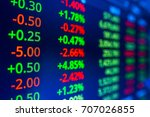 stock market graph analysis.... | Shutterstock . vector #707026855