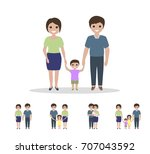 different types of families.... | Shutterstock .eps vector #707043592