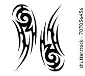 tribal tattoo art designs.... | Shutterstock .eps vector #707056456