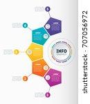 business presentation ... | Shutterstock .eps vector #707056972