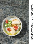 fine dining dessert  fresh figs ... | Shutterstock . vector #707059096