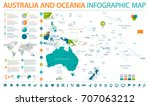 australia and oceania map  ... | Shutterstock .eps vector #707063212