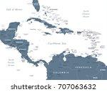 central america map   detailed...   Shutterstock .eps vector #707063632