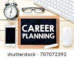 career planning    wooden...   Shutterstock . vector #707072392