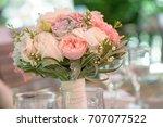 horizontal shot of elegant... | Shutterstock . vector #707077522