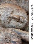 polonnaruwa gal vihara stone... | Shutterstock . vector #707080576