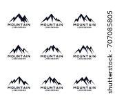 mountain icon logo design set | Shutterstock .eps vector #707085805