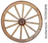 Antique  Steel Rimmed  Wooden...
