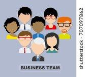 teamwork. set avatars   Shutterstock .eps vector #707097862