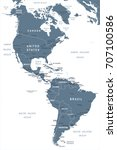 north and south america map  ... | Shutterstock .eps vector #707100586