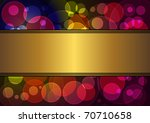 Gold Banner With A Background...
