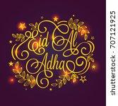 eid al adha festival... | Shutterstock .eps vector #707121925