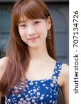 beautiful young adult thai... | Shutterstock . vector #707134726