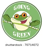 happy red eyed blue tree frog... | Shutterstock . vector #70714072