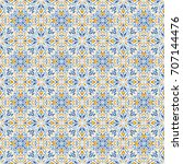 ethnic seamless patterns ... | Shutterstock .eps vector #707144476