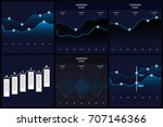 bundle infographics template | Shutterstock .eps vector #707146366