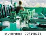 elegant served table indoors | Shutterstock . vector #707148196