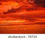 orange sunset sky. | Shutterstock . vector #70715