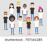 international team. modern... | Shutterstock .eps vector #707161285