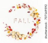 Autumn Composition. Wreath Made ...