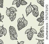 hop vector seamless pattern... | Shutterstock .eps vector #707173192