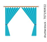 curtain opened decorative of... | Shutterstock .eps vector #707190922