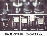 sound mixer volume regulator...   Shutterstock . vector #707195662
