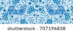 floral pattern ornament russian ...   Shutterstock . vector #707196838