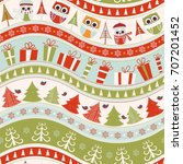 christmas seamless colorful... | Shutterstock .eps vector #707201452