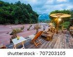 oun i mang homestay in bo kluea ... | Shutterstock . vector #707203105
