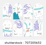 hand drawn creative tags.... | Shutterstock .eps vector #707205652