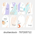 hand drawn creative tags.... | Shutterstock .eps vector #707205712