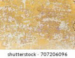 shabby yellow paint. texture of ...   Shutterstock . vector #707206096