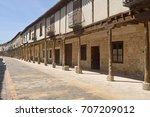 Street With Arcades In Ampudia...