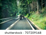 Group Of A Bikers On The...