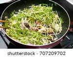 japanese food  goya chanpuru ... | Shutterstock . vector #707209702