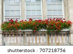 balcony is decorated with... | Shutterstock . vector #707218756