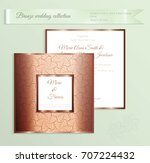 luxury bronze shiny wedding... | Shutterstock .eps vector #707224432